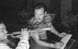 """Pedro Infante en los estudios """"Peerless"""""""